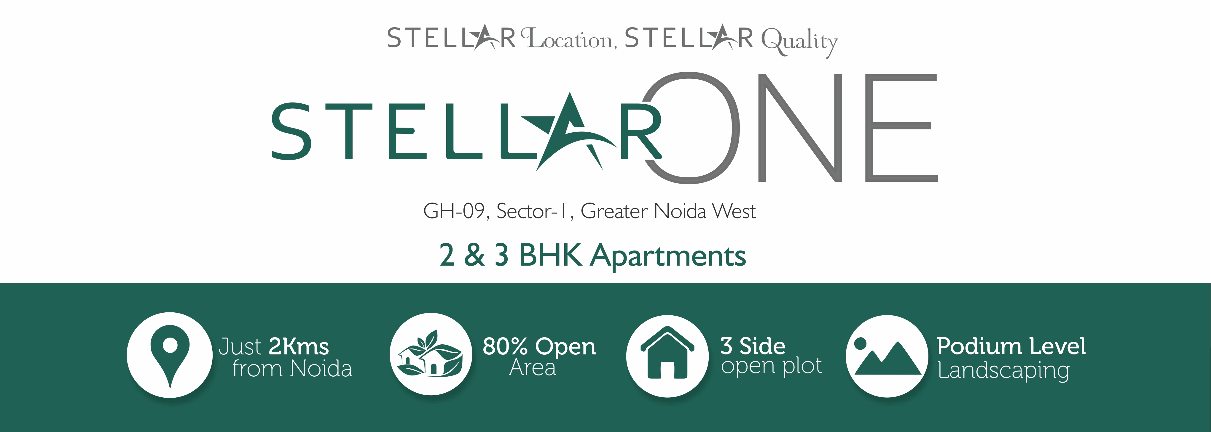 stellar one 2BHK and 3BHK